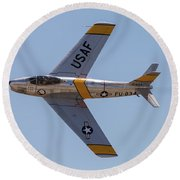 F-86 Jolley Roger Round Beach Towel
