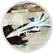 F/a18 Super Hornet Round Beach Towel