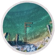 F Marks The Spot Round Beach Towel