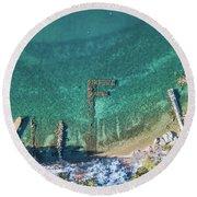 F Marks The Spot Round Beach Towel