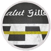 F1 Circuit Gilles Villeneuve - Montreal Round Beach Towel