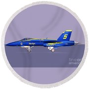 F18 Super Hornet Round Beach Towel