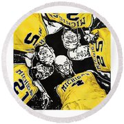 Fab Five At 25 Round Beach Towel