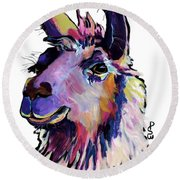 Fabio Round Beach Towel
