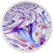Round Beach Towel featuring the painting Fabric Of Reality by Robert G Kernodle