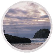 Face Time Round Beach Towel