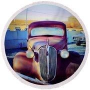 Facelift Wanted Car Round Beach Towel