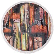Facemask Round Beach Towel