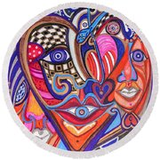 Faces Of Hope Round Beach Towel
