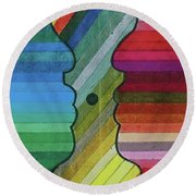 Faces Of Pride Round Beach Towel