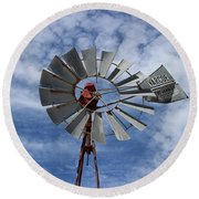 Round Beach Towel featuring the photograph Facing Into The Breeze by Stephen Mitchell