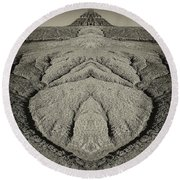 Factory Butte Digital Art Round Beach Towel