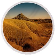 Factory Butte Round Beach Towel
