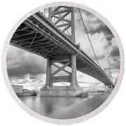 Fade To Bridge Round Beach Towel