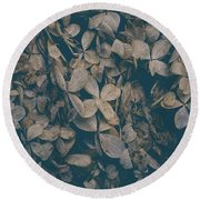 Round Beach Towel featuring the photograph Faded Flowers by Edward Fielding