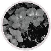 Faded Flowers Round Beach Towel