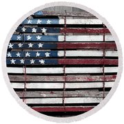 Round Beach Towel featuring the photograph Faded Glory by Stephen Flint