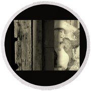 Faded Memories Round Beach Towel