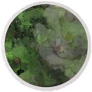 Faded Rose Round Beach Towel by Kathie Chicoine