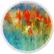 Faded Warm Autumn Wind Round Beach Towel