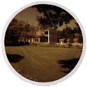 Round Beach Towel featuring the photograph Fading Glory - The Hermitage by James L Bartlett
