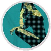 Fading Memories - The Golden Days No.2 Round Beach Towel by Serge Averbukh
