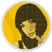 Fading Memories - The Golden Days No.3 Round Beach Towel by Serge Averbukh