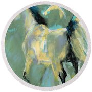 Fading Out To Three Round Beach Towel by Frances Marino