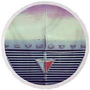 Fading Plymouth Round Beach Towel
