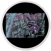 Round Beach Towel featuring the photograph Fading Rose by Sandy Moulder