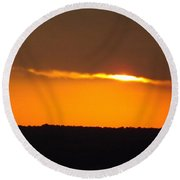 Fading Sunset  Round Beach Towel by Don Koester