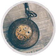 Round Beach Towel featuring the photograph Fading Time by Edward Fielding