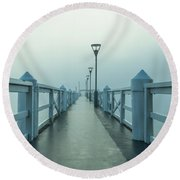 Fading Visions Round Beach Towel