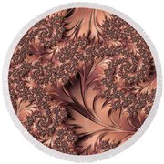Round Beach Towel featuring the digital art Faerie Forest Floor I by Susan Maxwell Schmidt
