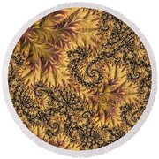 Round Beach Towel featuring the digital art Faerie Forest Floor II by Susan Maxwell Schmidt