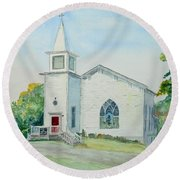 Fairdale Um Church Round Beach Towel