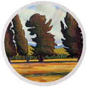 Fairfield Tree Row Round Beach Towel