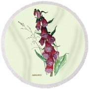 Fairy Bells Round Beach Towel