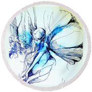 Fairy Doodles Round Beach Towel