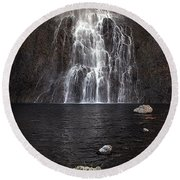 Round Beach Towel featuring the photograph Fairy Falls - Yellowstone National Park by Craig J Satterlee