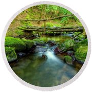Fairy Glen Bridge Round Beach Towel