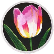 Round Beach Towel featuring the painting Fairy Lantern by Rodney Campbell