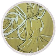 Fairy Round Beach Towel