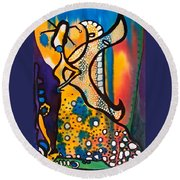 Round Beach Towel featuring the painting Fairy Queen - Art By Dora Hathazi Mendes by Dora Hathazi Mendes