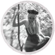 Fairy Queen Round Beach Towel