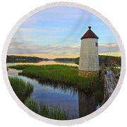 Fairy Tale On The River Round Beach Towel