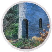 Fairy Tale Tower Round Beach Towel