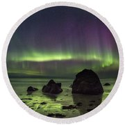 Fairytale Beach Round Beach Towel by Alex Conu