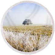Round Beach Towel featuring the photograph Fairytale Winter In Fingal by Jorgo Photography - Wall Art Gallery