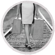 Round Beach Towel featuring the photograph Faith In Your Journey by Barbara West